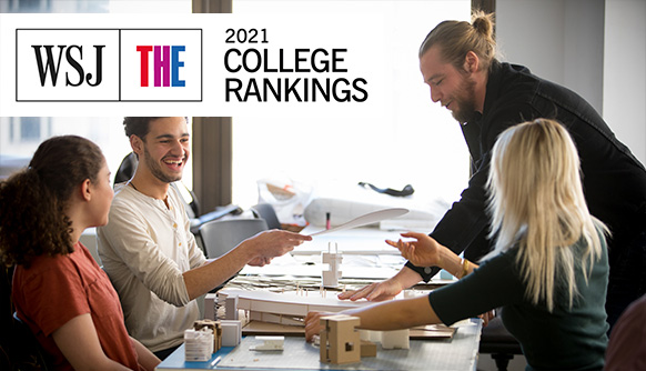 Students in class featuring rankings logo